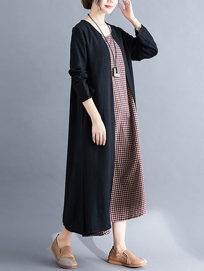 It's A Tie Cotton Midi Dress