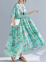 Monroe Green Light Smock Dress