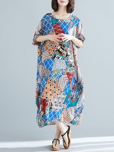 Athena Flamboyant Floral Smock Dress