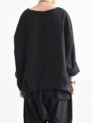 Dolman Sleeve Front Pocket Top