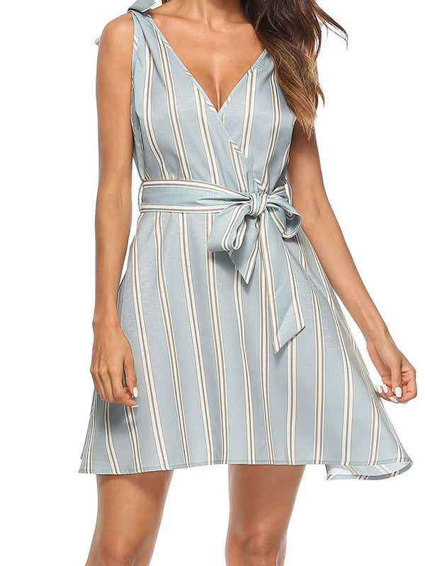 Hooked On Stripes Skater Dress