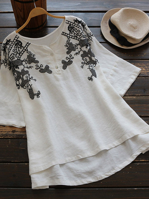 Floral Boss Tunic Top
