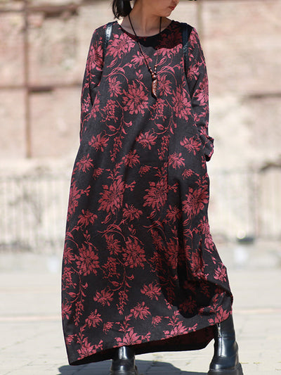 Next Chapter Floral Cotton Tie Maxi Dress