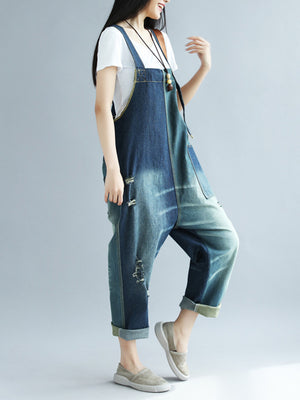 Dual Ikat Overall Dungarees