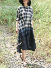 Envisioned Aesthetic Tartan Midi Dress