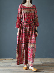 Wild Dreams Double Pocket Robe Maxi Dress