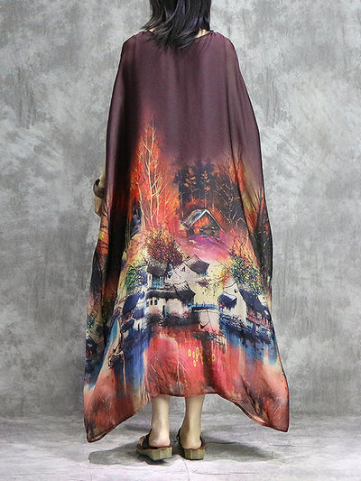 Lost In Forest Plus Size Kaftan Dress