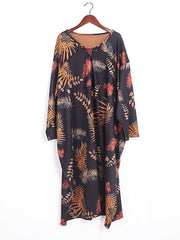 Tropic Embrace Cotton Midi Dress