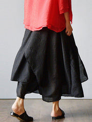 Flayered Wide Legs Pants