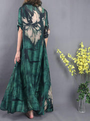Midnight Vibes Silk Maxi Dress