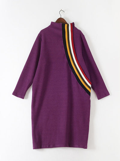 Make the Upgrade Stripe-Line Midi Dress