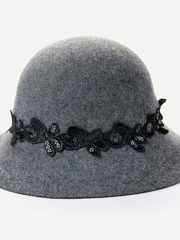 Faux Wool Felt Cloche