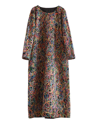 Tobias Swiss Woolen Maxi Dress
