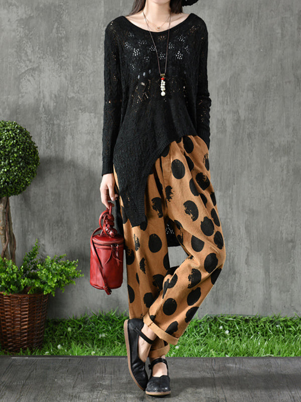 Karla Vintage Dotted Corduroy Trousers