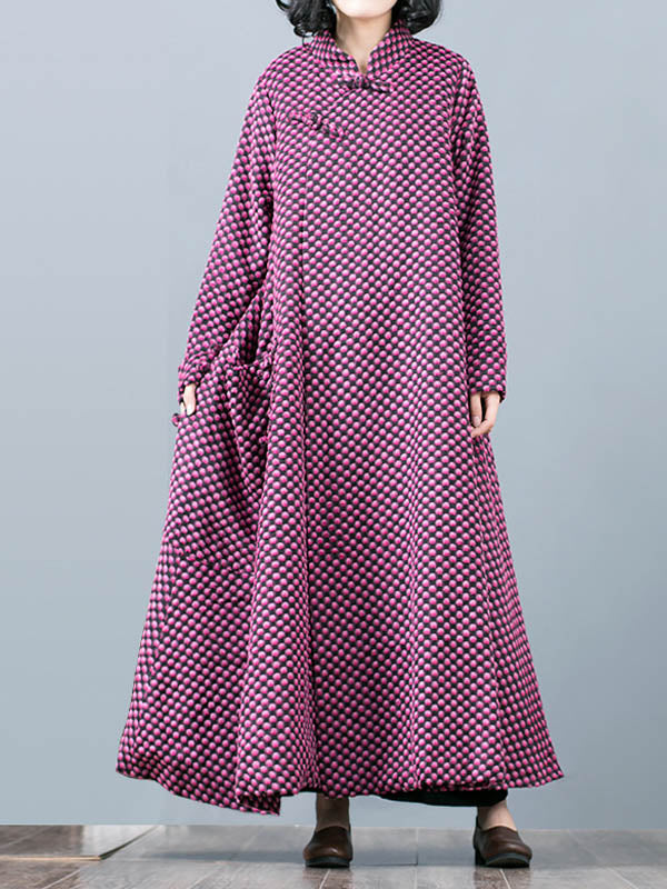 Ethnic Woolen Overcoat with Buttonhole Loops