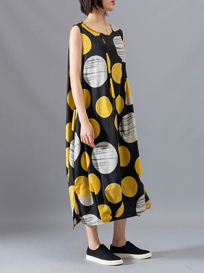 Kamala Polka Circles Midi Dress