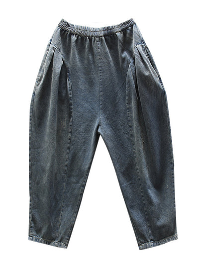 All Tied Up Elastic Waist Denim Trouser Pant