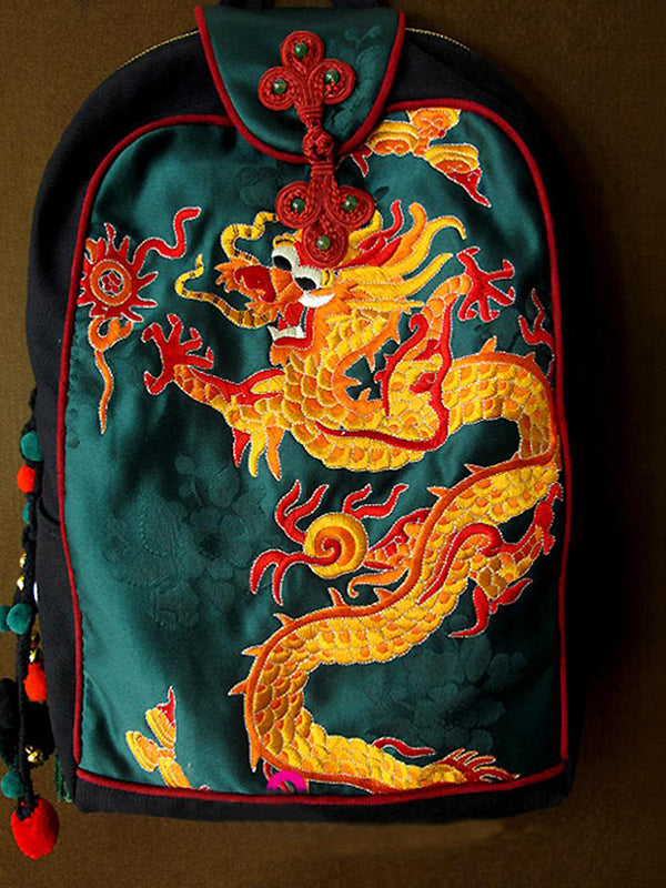 Dragon Embroidered Backpack