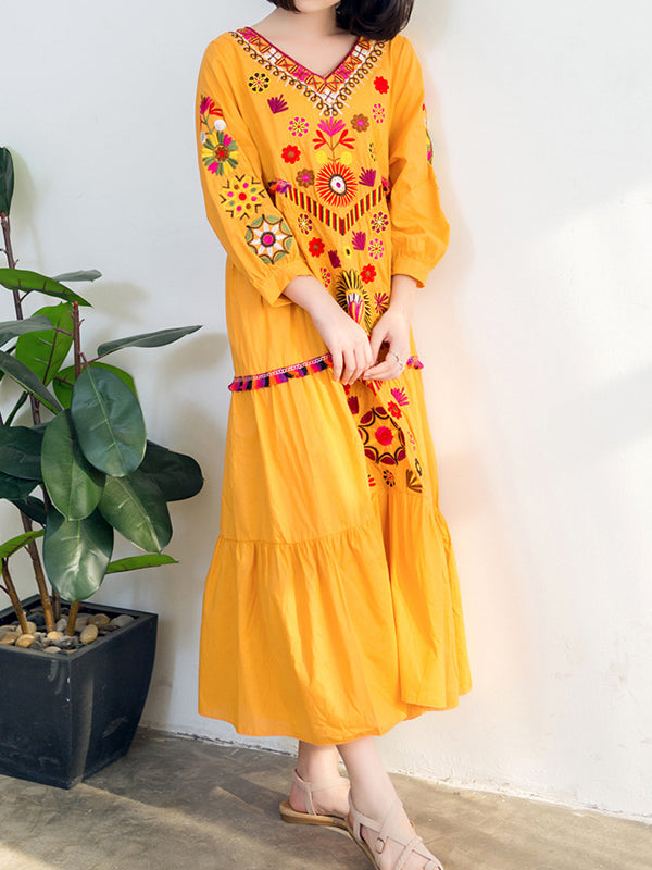 Traditional Mirror A-Line Dress
