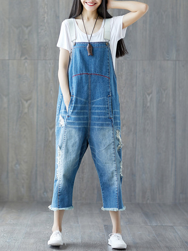 Ripped Lover Overall Dungarees
