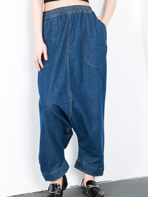Hadid Denim Harem Pants