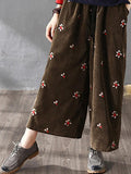 Ditsy Embroidered Wide Leg Pant