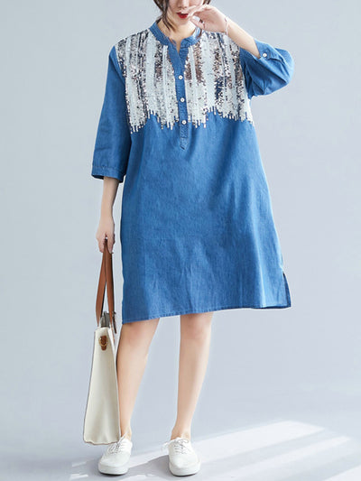 Torres Floral Embroidered Cotton Tunic Top