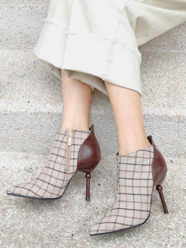 Hale Soft Plaid Heels