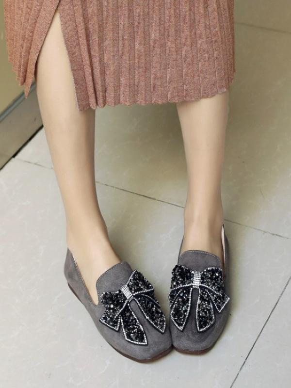 Satin Bow Casual Shoes