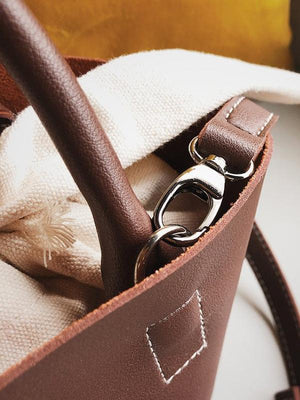 Canvas Button Handbag