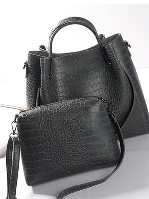 Crocodile Pattern 2 Piece Bag Set