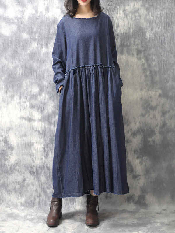 Flowy Smocking Maxi Dress Front