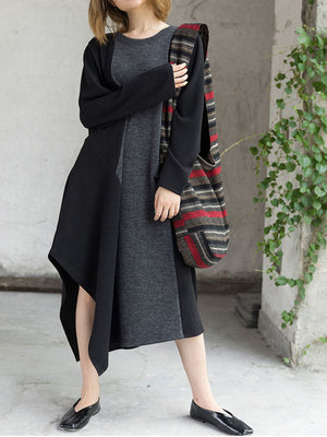 Irregular Sweater Dress