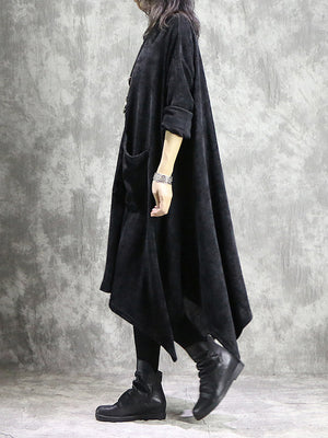 Cloak Maxi Dress with Front Pockets