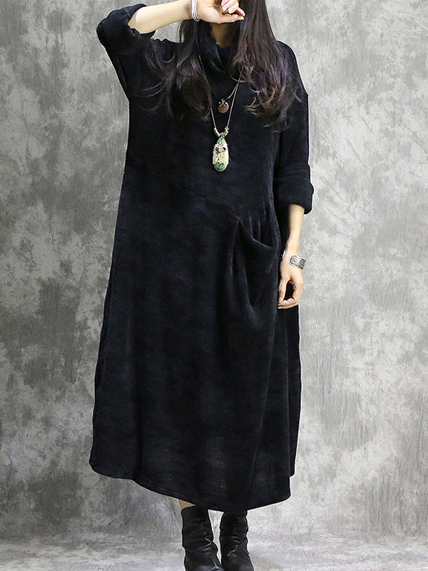 Joint Match Maxi Dress with Smock Pocket