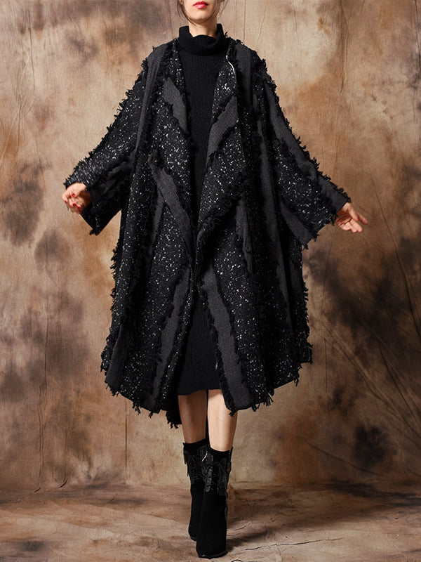 Cloak Overcoat with Grinding Edges