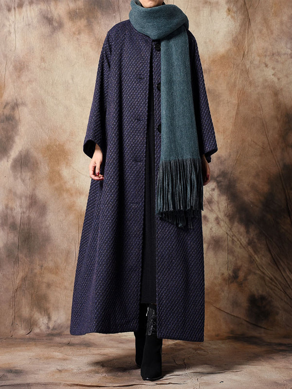 Simplicity Overcoat with Round Buttons