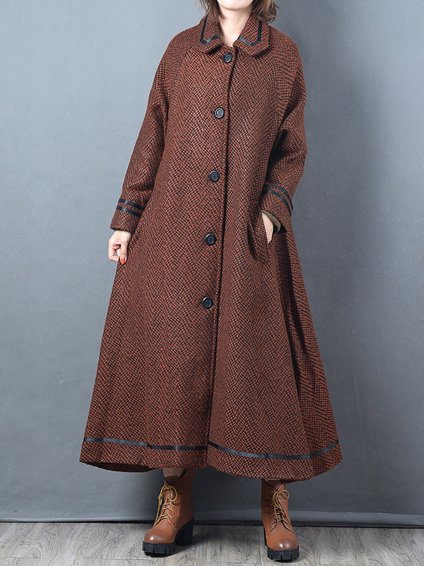 Houndstooth Overcoat with Slim Contour