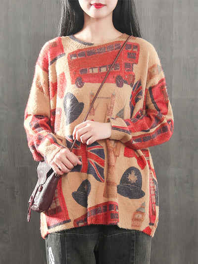 Britkey Printed Sweater Top