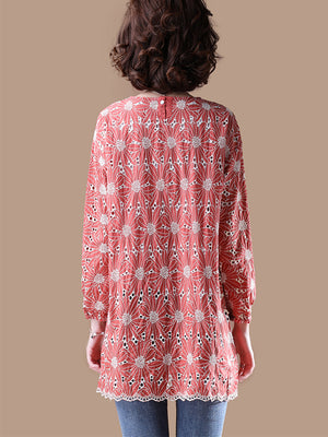 Distant Floral Tunic Top