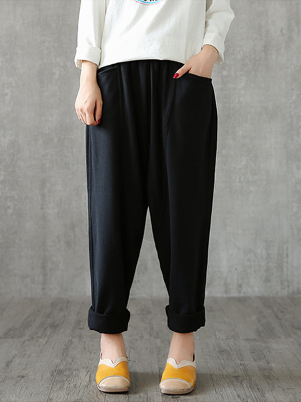 Sporty Patch Vintage Harem Pants