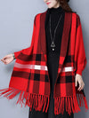 Stephanie Tartan Knit Scarf Cardigan