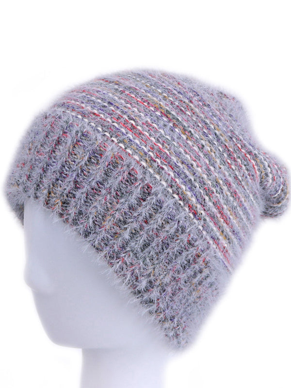 Colorful Stripes Knit Beanie