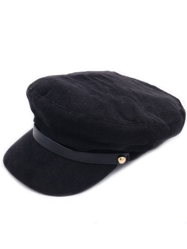 Corduroy Slope Ribbon Cap