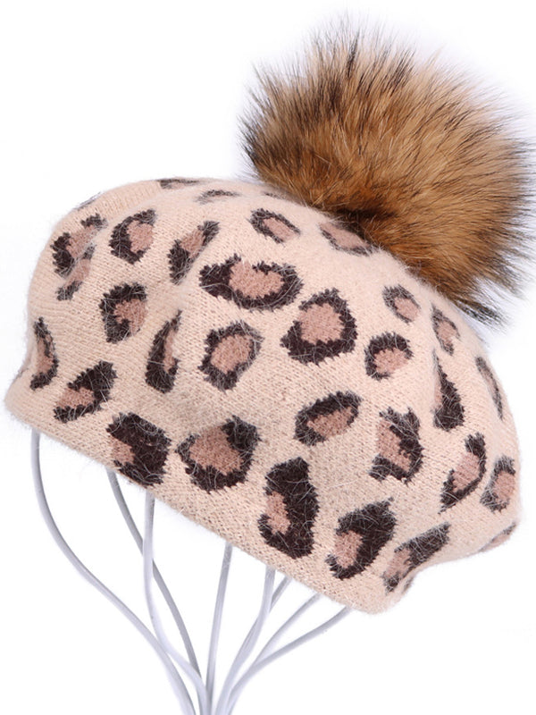 Fuzzy Ball Cony Hair Beret