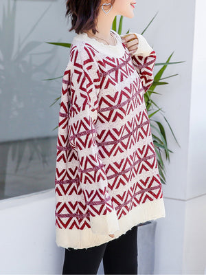 Bright Rhombic Sweater