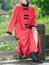 Susan Thicken Cotton Overcoat with Contrast Color