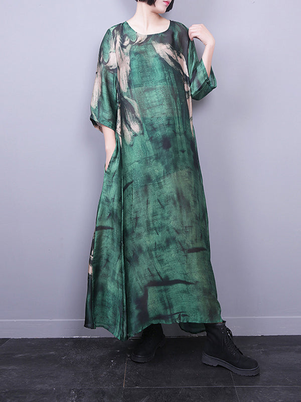 Linda Country Silk Maxi Dress with Camisole Dress