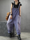 purple cotton dungarees women
