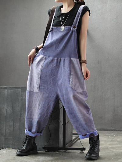 purple denim dungarees women